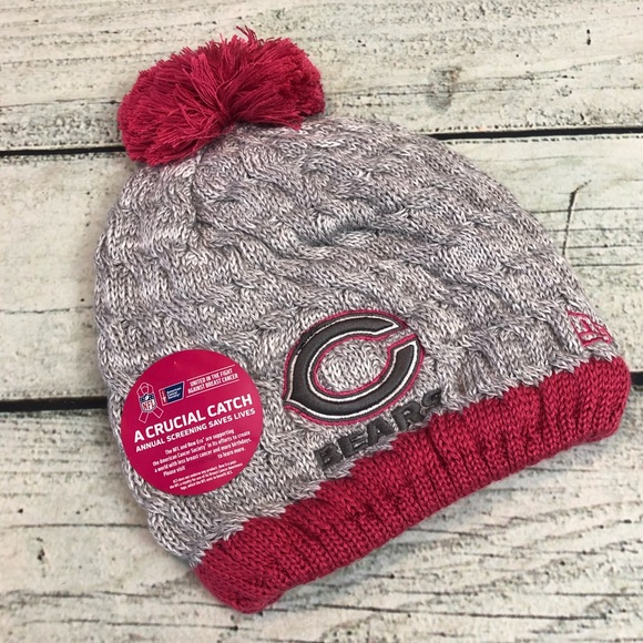 Chicago Bears football breast cancer beanie hat c551ceb05